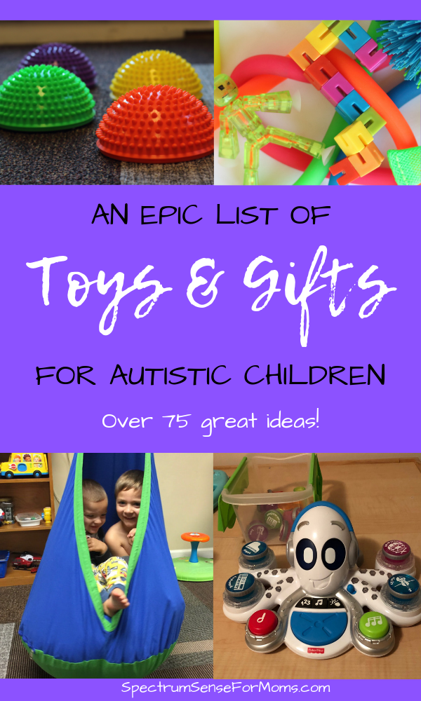 Awesome gift ideas for children on the autism spectrum! There are lots of fun toys