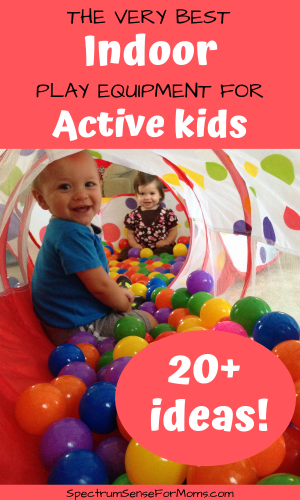 These are awesome ideas to keep your children active inside the house! Indoor play equipment can fit in large and small spaces, so there are options for both! #activekids #inoorplayequipment #indoorplaytime #indoorplayarea
