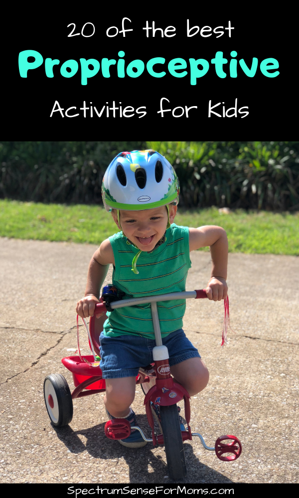 These proprioceptive activities are awesome! They are just what my kid needed to get the input he was seeking. Now he can focus more during school, and gets in less trouble because he is getting the proper proprioceptive input! #autismmom #autismactivities #proprioception #proprioceptiveactivities