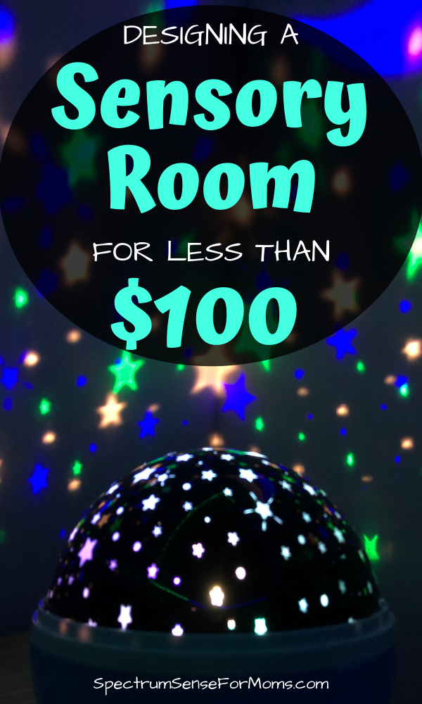 You can definitely design a sensory room for your home, no matter how small the space or how tight the budget! These ideas will show you how to make a sensory space for your child with autism or sensory processing disorder that they will love! #sensoryroom #autismtherapy #sensoryfriendlyhome