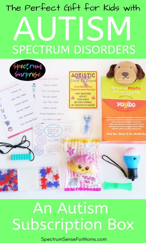 This autism subscription box for kids was the best gift for my son! It has sensory toys, a visual schedule, an autism awareness auto decal, and a travel sensory kit! This is the best thing you could get your autistic child! Mine is loving it!