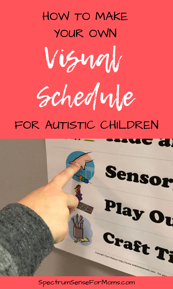 Super! Now I can make my own visual schedules for my autistic child! This article also helped me understand the many benefits of visual schedules and visual aids for kids on the autism spectrum. SO excited to use them!
