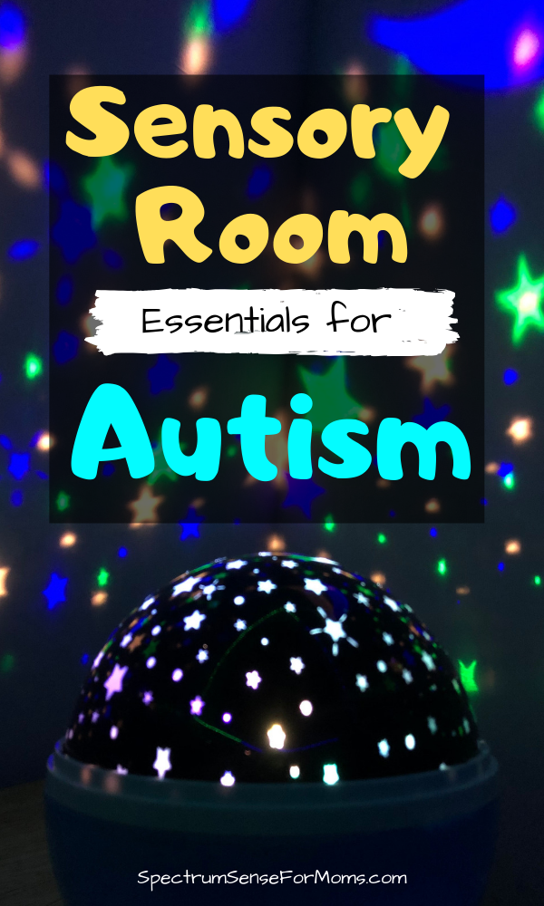 These are awesome sensory room ideas! My autistic children love their sensory room, and use it daily for sensory input and emotional regulation. I love the calm down bin products, and they really have a big impact on their behavior! #autismawareness #autismtherapy #sensoryprocessingdisorder