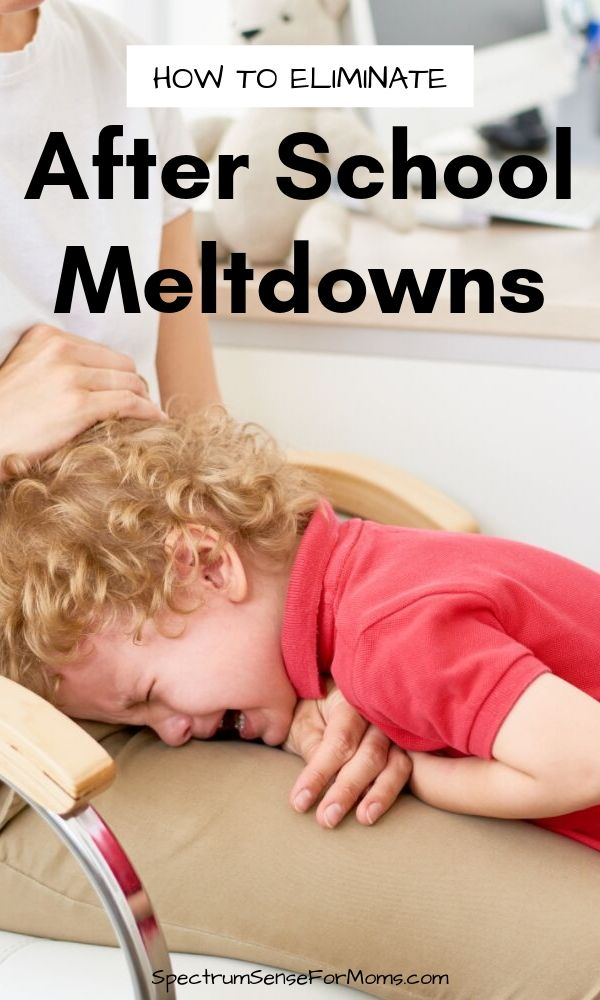These are awesome suggestions for reducing the buildup of stress that causes after school meltdowns in our kids! If your child falls apart once they get home, try this sensory routine and other tips to help them regulate!